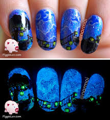 midnight blue nail designs
