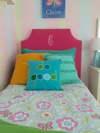 Pottery Barn Kids Headboard Twin Girls Room Makeover With Upholstered Monogramed Headboards