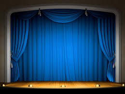 Gold And Blue Curtains Blue Stage Curtain Wallpaper Centerfordemocracy Org