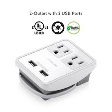 desk power outlet poweradd 2 outlet 2 usb ports surge protector international travel