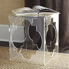 Quatrefoil Side Table Quatrefoil Acrylic Side Table Wisteria