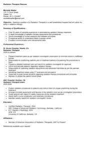 Certified Hand Therapist Resume Sample by Radiation Therapist Cover Letter