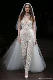 wedding dress jumpsuit 2017 new arrival jumpsuit wedding dresses with detachable