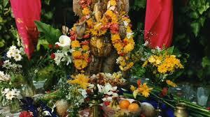 ganesh festivel home decorations vinayaka chavithi home