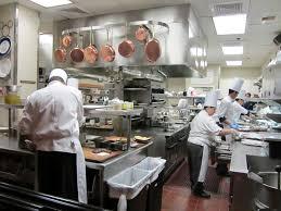 restaurant kitchen chefs with steps to a clean restaurant that
