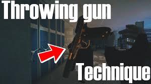 siege technique throwing gun technique rainbow six siege highlights