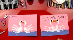 how to finger paint swans valentine u0027s card art for kids hub