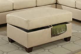 Ottomans by Cire Beige Leather Ottoman Steal A Sofa Furniture Outlet Los