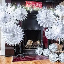 aliexpress com buy christmas tissue paper snowflakes white