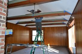 update wood paneling covering wood paneling family room renovation