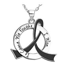 black ribbon necklace images It came we fought i won cancer survivor necklace jpg