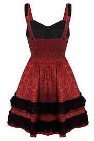 red gothic lace jawbreaker prom dress jawbreaker dress