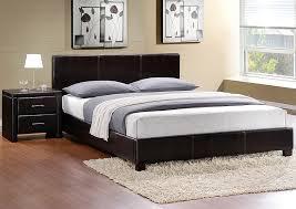 wine country furniture zoey dark brown queen platform upholstered bed