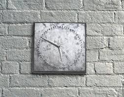 buy watch metallic unusual wall clock with nails minimalism