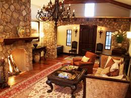 small house in spanish living room design with stone fireplace small kitchen home bar