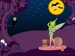 cartoon halloween picture halloween wallpapers free halloween wallpapers tinkerbell