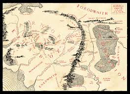 Map Middle Earth Middle Earth Map Of Arnor In T A 1640 Dicehaven Com