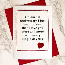 personalised on our anniversary card by arnott cards
