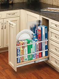 cabinet sle colors rev a shelf 447 bcsc 8c 8 in pull out wood foil wrap tray divider cabinet organizer with soft slides