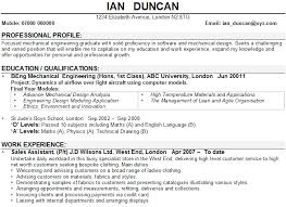 Resume Examples Mechanical Engineer Examples Of Engineering Cv Uk