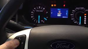 how to reset the oil life on a ford edge youtube