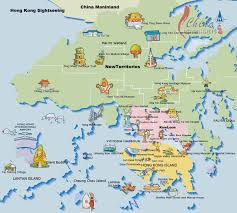 Sea Airport Map Hong Kong Tourist Map Hong Kong Maps China Highlights