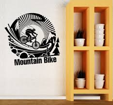 Diy Modern Home Decor by Aliexpress Com Buy Creative Mountain Bike Wall Stickers Quotes