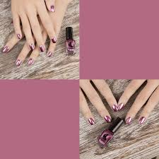 6 colors gorgeous metallic mirror effect nail art polish varnish