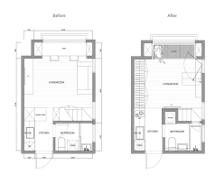 Home Floor Plan by 2 Super Tiny Home Designs Under 30 Square Meters Includes Floor