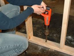 How To Properly Finish A Basement How To Frame A Floating Wall How Tos Diy