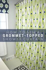 How To Measure For Grommet Curtains Make A Grommet Topped Shower Curtain