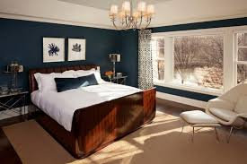 traditional bedroom decorating ideas white ceiling paint color with navy blue wall for traditional