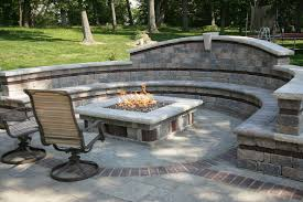 Patio And Firepit by Fireplaces Fire Pits And Fire Tables Allgreen Inc