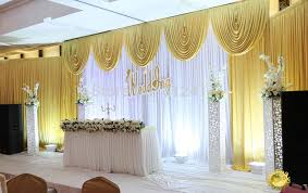 wedding backdrop gold fast shipping 3x6m white and gold wedding backdrop curtain with