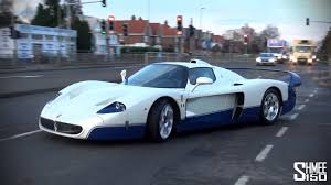 maserati mc12 blue maserati mc12 arrives at romans international startup and on the