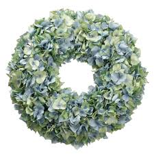 hydrangea wreath hydrangea wreath blue green