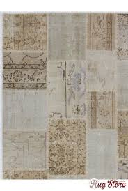 cm beige u0026 cream color patchwork rug overdyed washed out neutral