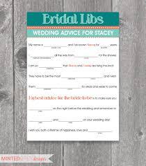 printable bridal libs mad libs bridal shower game bridal shower