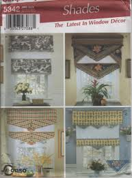simplicity 5342 window treatments sewing pattern for shades