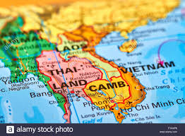 world map of capital cities bangkok capital city of thailand on the world map stock photo