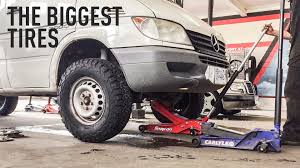 lifted mercedes van the biggest tires you can fit on a sprinter van without lift