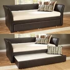 hillsdale malibu brown leather daybed with