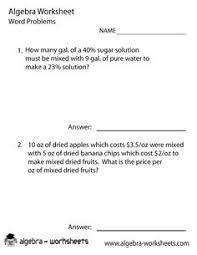 simple algebra worksheet printable math worksheets pinterest