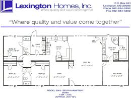 Mobile Home Floor Plans lexington homes double wide floor plans