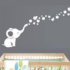 Wall Nursery Decals Elephant Bubbles Baby Wall Decal Vinyl Wall Nursery Room Decor