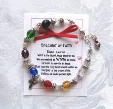 humanity bracelets beaded salvation bracelet of faith beaded with cross charm beads