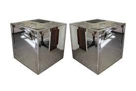 viyet designer furniture tables john richard mirrored cube