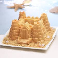 How To Decorate A Birthday Cake At Home Amazon Com Nordic Ware Pro Cast Castle Bundt Pan Novelty Cake