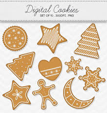 christmas cookie 3d clipart collection