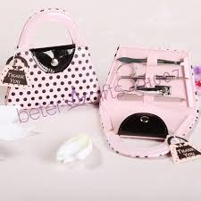 manicure set favors pink polka dot manicure set beter zh007 pedicureset weddinggift